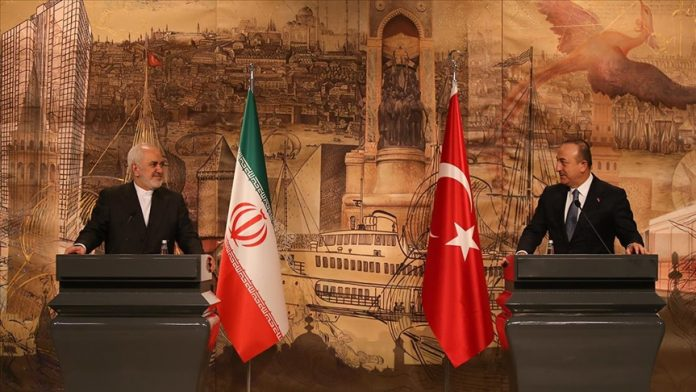 Çavuşoğlu ile görüşen İran Dışişleri Bakanı Zarif'