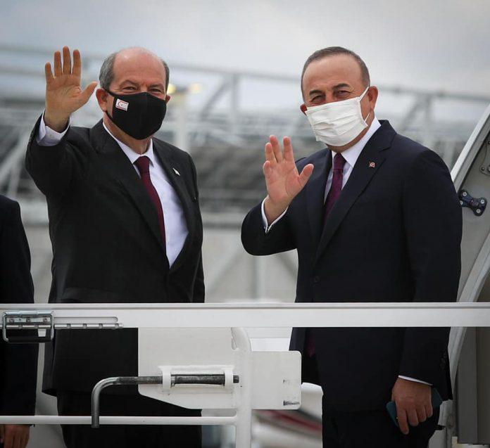 Cumhurbaşkanı Ersin Tatar ve Mevlüt Çavuşoğlu