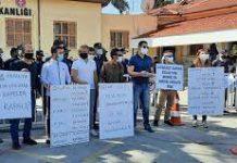 Kafe işletmecilerinden Sağlık Bakanlığının önünde 'nargileli' eylem