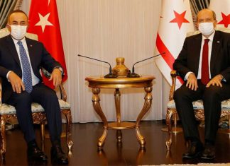 Cumhurbaşkanı Ersin Tatar ile Türkiye Dışişleri Bakanı Mevlüt Çavuşoğlu