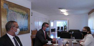 CTP Genel Başkanı Tufan Erhürman ve Dış ilişkiler Sekreteri Fikri Toros