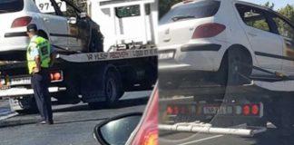 Araç yol ortasında alev aldı!